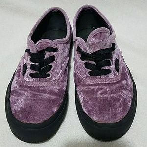 Purple Crush Velvet Low TopVans